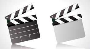 Clapper board. Vector illustrator of a movie clapper board Royalty Free Stock Image