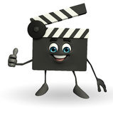 Clapper Board Character with best sign Stock Image