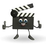 Clapper Board Character with best sign Stock Images