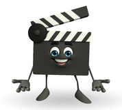 Clapper Board Character Stock Photography