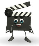 Clapper Board Character with clapping pose Royalty Free Stock Image
