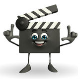 Clapper Board Character with director pose Stock Image