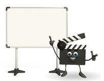 Clapper Board Character with display board Stock Images