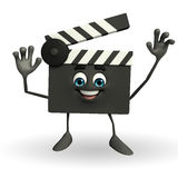 Clapper Board Character with hello pose Stock Images