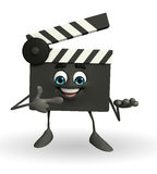 Clapper Board Character with pointing pose Royalty Free Stock Image
