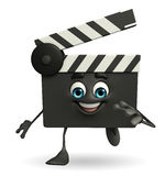Clapper Board Character is running Royalty Free Stock Photo