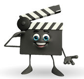 Clapper Board Character with salute pose Royalty Free Stock Images