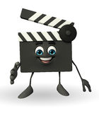 Clapper Board Character with shake hand pose Stock Images