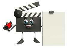 Clapper Board Character with sign Royalty Free Stock Photography