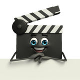 Clapper Board Character with sign Stock Photos