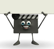 Clapper Board Character with sign Stock Images