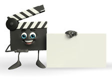 Clapper Board Character with sign Stock Photography