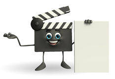 Clapper Board Character with sign Royalty Free Stock Photo