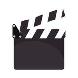 Clapper board cinema icon. Illustration design Stock Photo