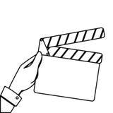 Clapper board cinema icon. Illustration design Royalty Free Stock Photos