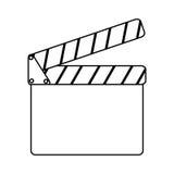 Clapper board cinema icon. Illustration design Royalty Free Stock Photography