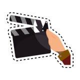 Clapper board cinema icon. Illustration design Royalty Free Stock Photo