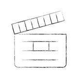 Clapper board cinema icon Royalty Free Stock Images