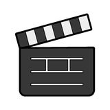 Clapper board cinema icon Royalty Free Stock Photography