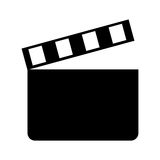 Clapper board cinema icon Stock Image