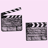 Clapper board cinema Royalty Free Stock Photo