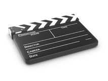 Clapper board. On a white background. 3d illustration Stock Images