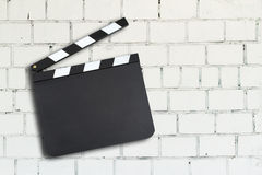Clapper board with copy space Stock Photos