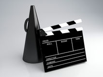 Clapper board, 3d illustration. Cinema concept Stock Photo