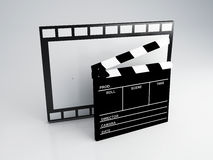 Clapper board, 3d illustration. Cinema concept Stock Photography