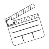 Clapper board film icon. Illustraction design image Royalty Free Stock Photo
