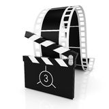 Clapper board and film Stock Image