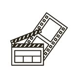 Clapper board flat line icon Stock Images