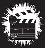 Clapper Board Grunged Border Royalty Free Stock Images