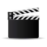 Clapper board icon. Clapper board vector illustration over white Stock Photo