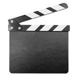 Clapper board isolated with clipping path Royalty Free Stock Images