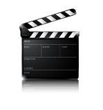 Clapper board isolated on white background Stock Image
