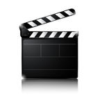 Clapper board isolated on white background. Illustration of Clapper board isolated on white background Stock Images