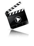 Clapper board isolated on white background. Illustration of Clapper board isolated on white background Stock Photo