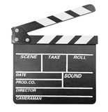 Clapper board isolated on white with clipping path included. Clapper board isolated on white Stock Image