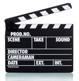 Clapper board isolated on white Stock Image