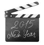Clapper board with 2015 new year text isolated Royalty Free Stock Images