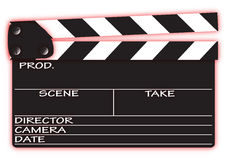 Clapper Board with Red Royalty Free Stock Photo
