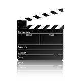 Clapper board with reflection. Movie clapper board with reflection. Vector illustration Royalty Free Stock Image