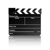 Clapper board with reflection. Movie clapper board with reflection. Vector illustration Royalty Free Stock Photography