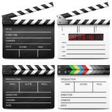 Clapper board set Stock Photo
