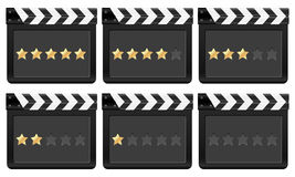 Clapper board with stars 2 Stock Photos