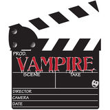 Clapper Board Vampire Stock Photo