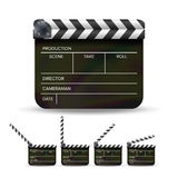 Clapper Board Vector. Black Cinema Clapper Isolated On A White Background Royalty Free Stock Photo