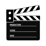 Clapper board. Vector icon isolated on white Stock Image