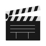 Clapper board vector illustration. Royalty Free Stock Photography